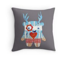 Forest Monster Throw Pillow