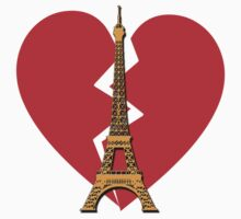 Eiffel Tower with Broken Heart Kids Clothes