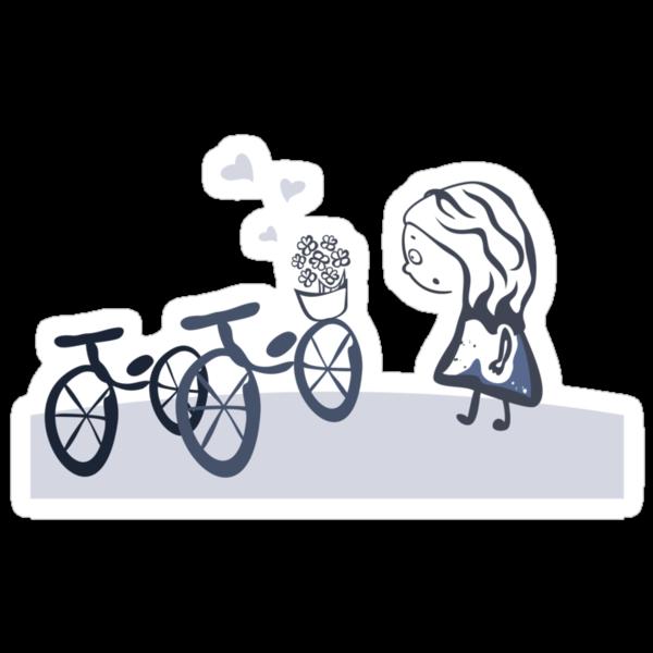 present in the bicycle by Anastasiia Kucherenko