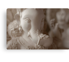 Moods of Lord Ganesh & the making of idols #2 Canvas Print