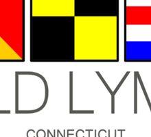 Old Lyme Connecticut Nautical Flag Art  Sticker