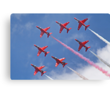 Top Pass - Red Arrows - Dunsfold 2012 Canvas Print
