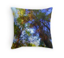 Tree tops. Throw Pillow