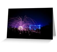 Wirewool Spinning and Newport Transporter Bridge Greeting Card