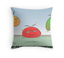 Ball bouncing animation three frames in one Throw Pillow
