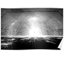 Wirewool Spinning - Black and White Poster