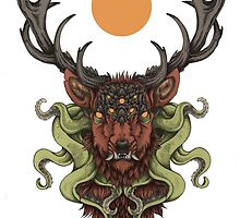 Cthulhu's Stag - Red by Flying Viper