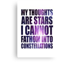 Constellations - TFioS Canvas Print