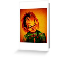 Chucky Greeting Card