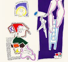 Night Drawings - Les Dessins de Nuit n°52  - Waiting the parcel by Pascale Baud