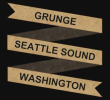 Grunge Seattle Washington Baby Tee