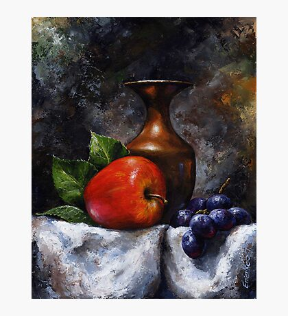 Apple and grapes - still life /23 Photographic Print