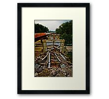 Huguenot Bridge is falling down, falling down!  Framed Print