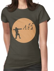 Birzooka silhouette Womens Fitted T-Shirt
