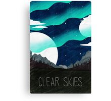 Tamriel Shout - Clear Skies Canvas Print