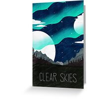 Tamriel Shout - Clear Skies Greeting Card