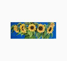 The Sunflowers on blue Unisex T-Shirt