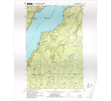 USGS Topo Map Washington State WA Holly 241557 1953 24000 Poster
