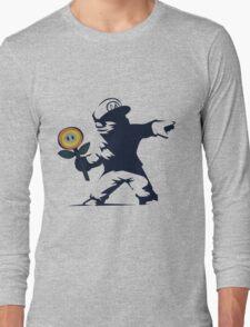 Banksy Flower Long Sleeve T-Shirt