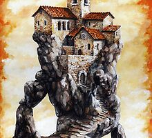 Lost City - Staircase spiral of Church by Imre Toth (Emerico)
