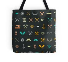 Hipster Seamless Pattern Tote Bag