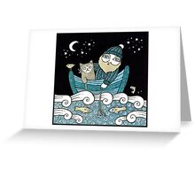 The Fisherman's Cat Greeting Card