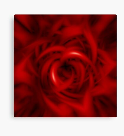 Tormented Rose Canvas Print