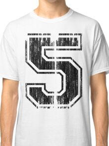 Bold Distressed Sports Number 5 Classic T-Shirt
