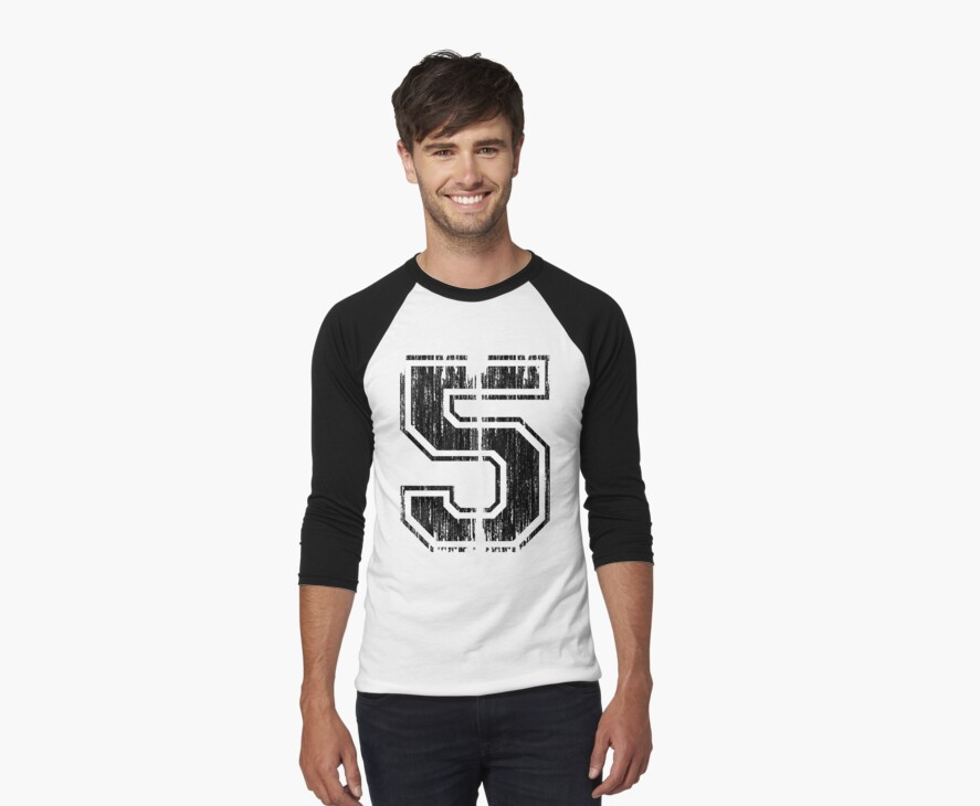 Bold Distressed Sports Number 5 by adamcampen