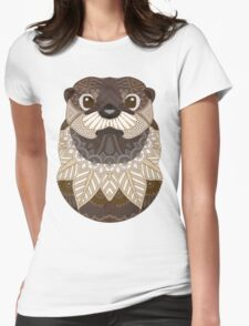Ornate Otter Womens Fitted T-Shirt