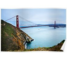 Golden Gate Cliffs Poster