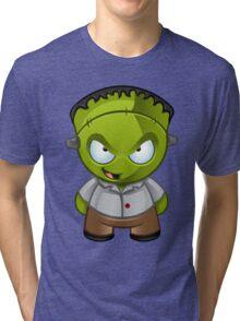 Frankenstein Monster Boy Naughty Grin Tri-blend T-Shirt