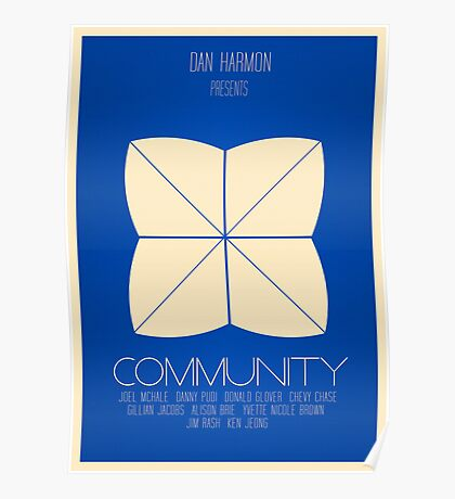 Community - Minimalist Movie Posters Poster