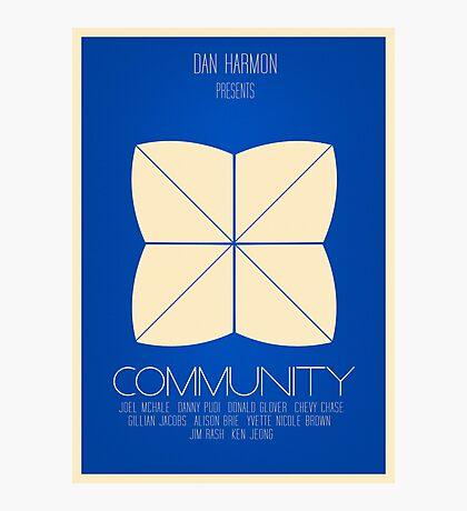 Community - Minimalist Movie Posters Photographic Print