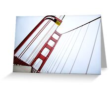 Golden Gate Abstract Greeting Card