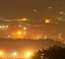 View from Pennards Hill, 3am  Sticker