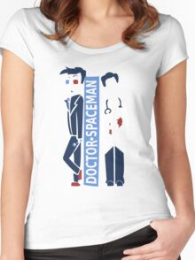 Spacemen (Red, White, and Blue) Women's Fitted Scoop T-Shirt