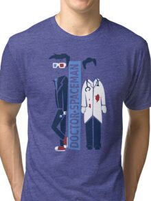 Spacemen (Red, White, and Blue) Tri-blend T-Shirt