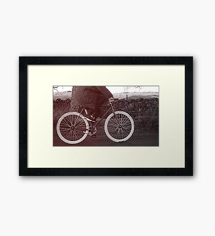 Fixie Bike Framed Print