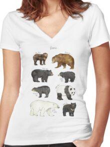 Bears Women's Fitted V-Neck T-Shirt