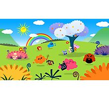 Happy Colorful Planet 02 Photographic Print