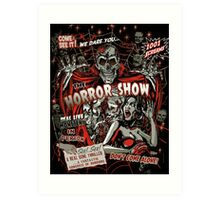 Spook Show Horror movie Monsters  Art Print