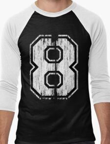 White Distressed Sports Number 8 T-Shirt