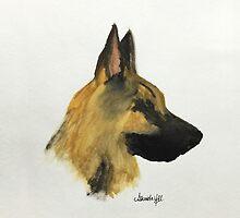 "German Shepherd ""Loyalty and love are not exclusive virtues of human beings"" by Armyhu"