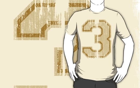 Vintage Distressed Sports Number 3 by Adam Campen