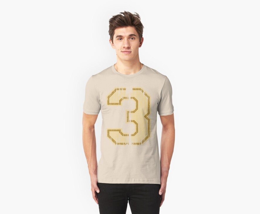 Vintage Distressed Sports Number 3 by adamcampen