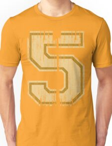 Vintage Distressed Sports Number 5 Unisex T-Shirt