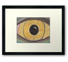 Golden Eye Framed Print