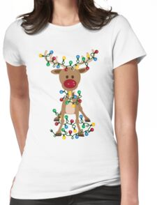 Adorable Reindeer Womens Fitted T-Shirt