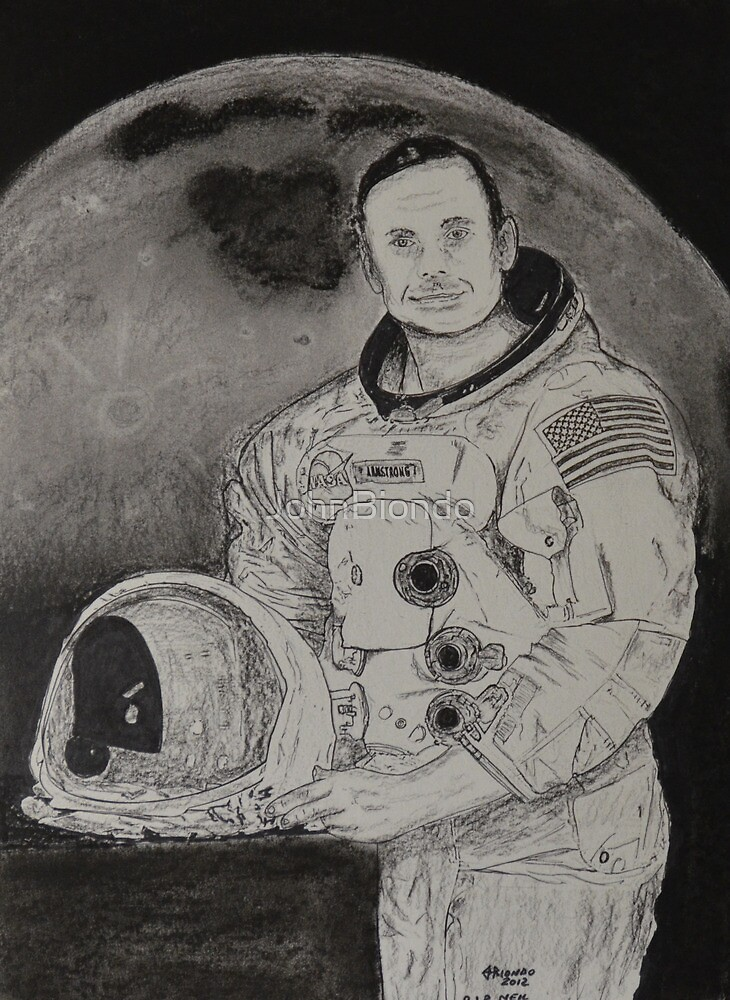 Neil Armstrong Drawing by JohnBiondo
